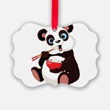 Panda Eating Rice Ornament