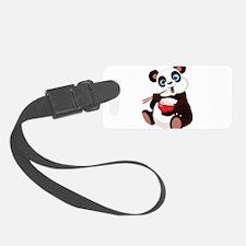 Panda Eating Rice Luggage Tag