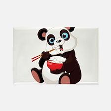 Panda Eating Rice Magnets