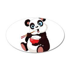 Panda Eating Rice Wall Decal
