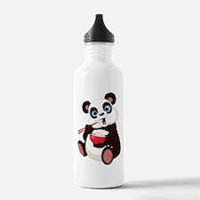 Panda Eating Rice Water Bottle