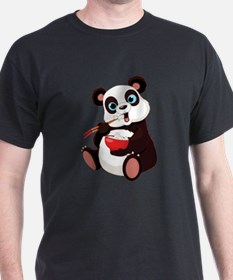 Panda Eating Rice T-Shirt