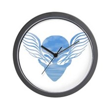 """On the Wings of Aliens """"Clouds"""" Wall Clock"""