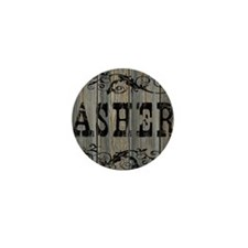 Asher, Western Themed Mini Button