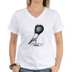 Swing Pouter Pigeon Women's V-Neck T-Shirt