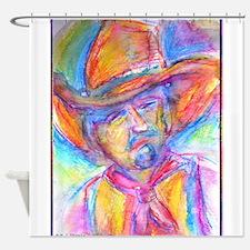 Colorful cowboy art Shower Curtain