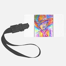 Colorful cowboy art Luggage Tag
