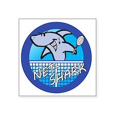 "Net-Shark 2012 Design - Blu Square Sticker 3"" x 3"""