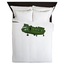 Chinook Helicopter Queen Duvet