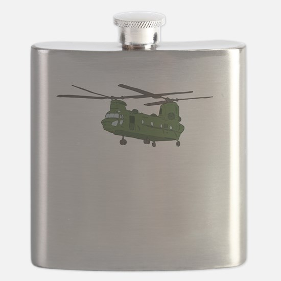 Chinook Helicopter Flask