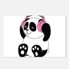 Panda with Headphones Postcards (Package of 8)