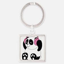 Panda with Headphones Keychains