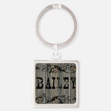 Bailey, Western Themed Square Keychain