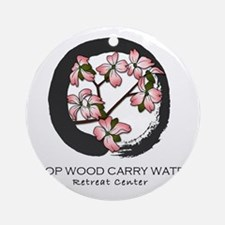 LOGO Chop Wood Carry Water Retreat  Round Ornament