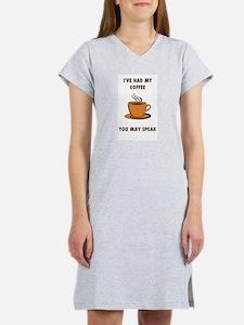 FUNNY COFFEE Women's Nightshirt