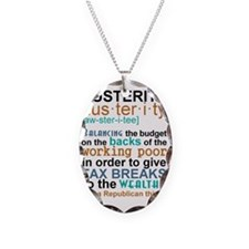 Austerity Republican Thing Necklace Oval Charm