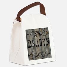 Bradyn, Western Themed Canvas Lunch Bag