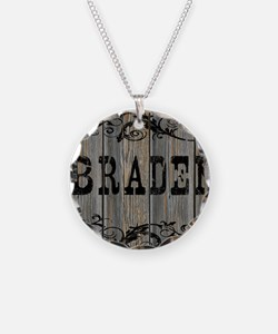 Braden, Western Themed Necklace Circle Charm