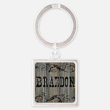 Braedon, Western Themed Square Keychain