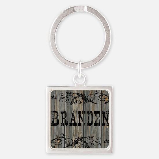 Branden, Western Themed Square Keychain