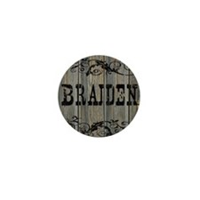 Braiden, Western Themed Mini Button