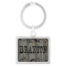Braxton, Western Themed Landscape Keychain