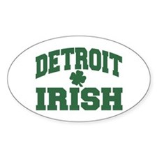 Detroit Irish Oval Decal