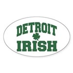 Detroit Irish Oval Sticker