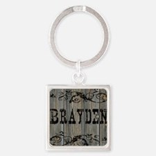 Brayden, Western Themed Square Keychain