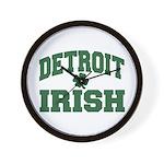 Detroit Irish Wall Clock