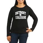 Detroit Irish Women's Long Sleeve Dark T-Shirt