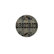 Broderick, Western Themed Mini Button