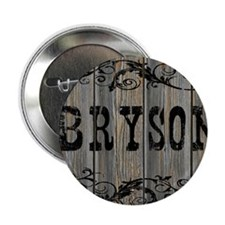 "Bryson, Western Themed 2.25"" Button"