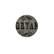 Bryan, Western Themed Mini Button