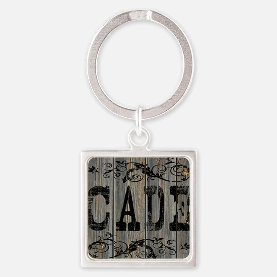 Cade, Western Themed Square Keychain