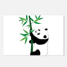 Panda Climbing Bamboo Postcards (Package of 8)