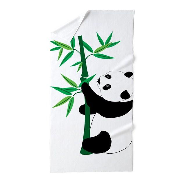 Bamboo Travel Towel Australia: Panda Climbing Bamboo Beach Towel By WorldofAnimals