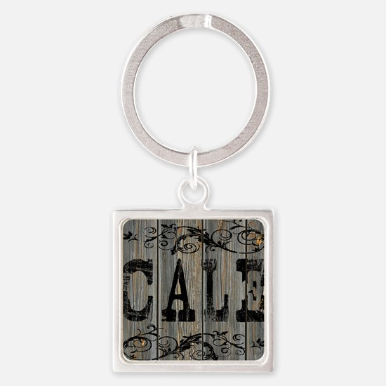 Cale, Western Themed Square Keychain