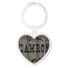 Camron, Western Themed Heart Keychain