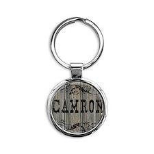 Camron, Western Themed Round Keychain