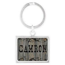 Camron, Western Themed Landscape Keychain