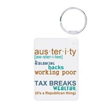 Austerity Republican Thing Keychains