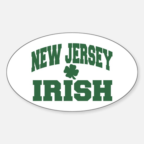 New Jersey Irish Oval Decal