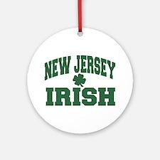 New Jersey Irish Ornament (Round)
