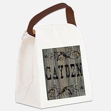 Cayden, Western Themed Canvas Lunch Bag