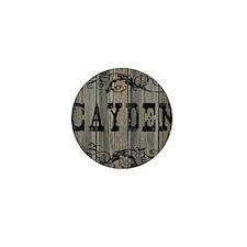 Cayden, Western Themed Mini Button