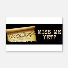 Cute Miss me yet Rectangle Car Magnet