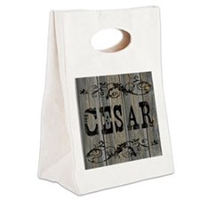 Cesar, Western Themed Canvas Lunch Tote