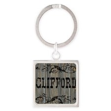 Clifford, Western Themed Square Keychain