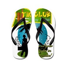 TIKI CLUB RETRO 50S NIGHTCLUB Flip Flops